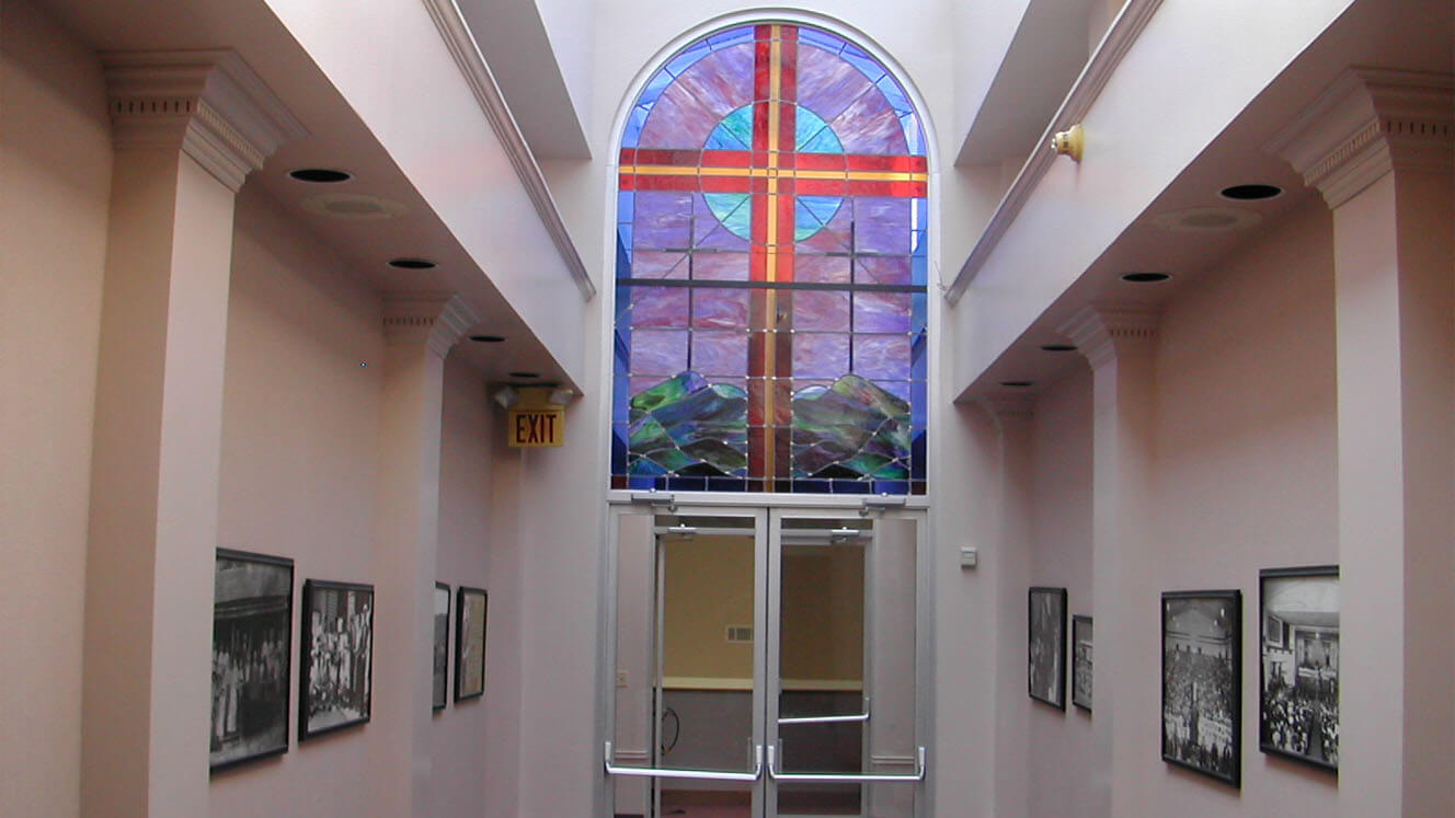 Church Bethleham Church of God Stained Glass Corridor