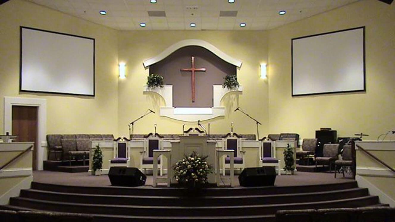 Church Calvary Interior Sanctuary Worship Space
