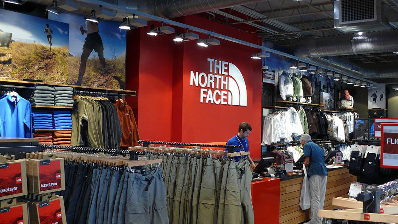 Northface with Logo on Wall