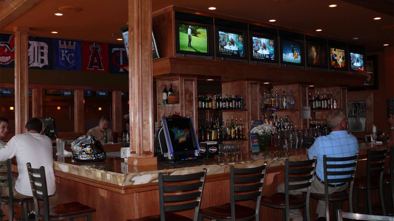 Sidelines Bar Area